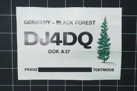 Same station that sent a QSL postcard of the transmitter. Nice typography.