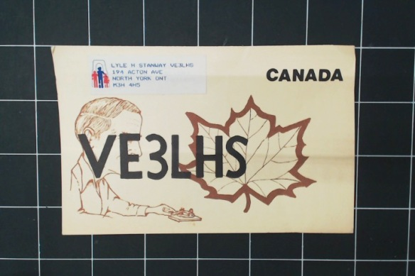 Finally, this was Grandpa's QSL. He sent one of these to every ham he contacted. He had about 12 left in an envelope