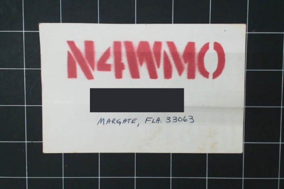 This Floridian spray-painted his logo on blank postcards. God bless