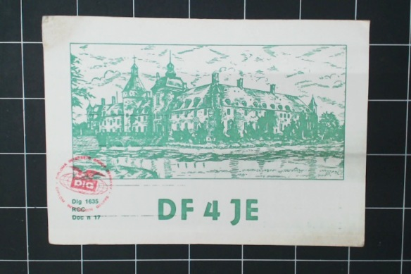From Anholt, Germany. Nice woodcut of the town's castle