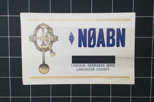 Lincoln, Nebraska. My grandpa didn't save many cards from America.