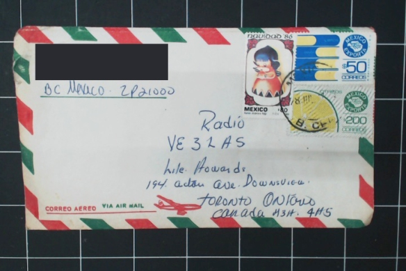 Mexican envelope with 330 peso of postage. No contents
