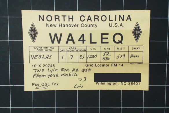 My grandpa had a portable radio in his car. Apparently it reached North Carolina