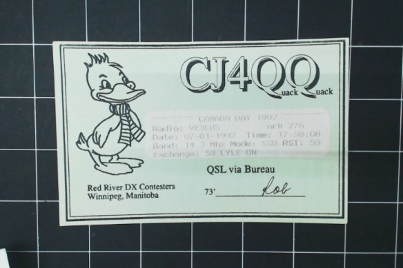 The duck needs a scarf if he's spending time in Manitoba. Quack quack!