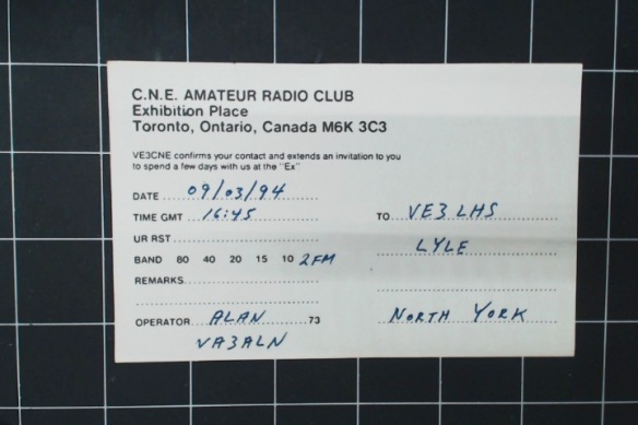 Backside of the QSL from The Ex